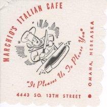 Image of 13373-163 - Napkin; Marchio's Italian Cafe, Omaha