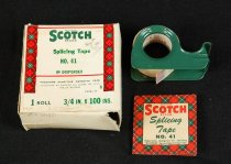 Image of 13347-3-(1-3) - Tape, Audio Reel; Scotch Splicing Tape, No. 41, with box and instruction sheet