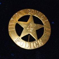 Image of 13357-1 - Badge, Law Enforcement; Lincoln Councilman, Alexander H. Hutton