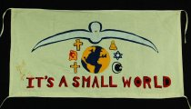 Image of 13352-11 - Banner; Panel, Peace Ribbon, 1985, It's a Small World
