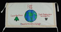 Image of 13352-29 - Banner; Panel, Peace Ribbon, 1985, Reduce Reuse Recycle