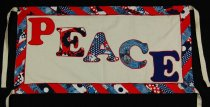Image of 13352-53 - Banner; Panel, Peace Ribbon, 1985, Patriotic Peace