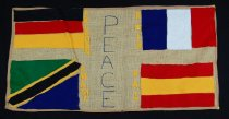 Image of 13352-55 - Banner; Panel, Peace Ribbon, 1985, International Peace Two