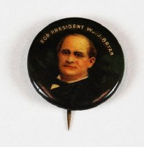 Image of 13371-7 - Button, Campaign; William Jennings Bryan