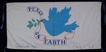 Image of 13352-100 - Banner; Nebraska Peace Ribbon, 1985, Clay County Peace On Earth