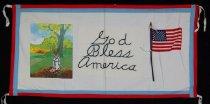Image of 13352-102 - Banner; Nebraska Peace Ribbon, 1985, God Bless America