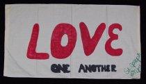 Image of 13352-106 - Banner; Nebraska Peace Ribbon, 1985, York St. Joseph