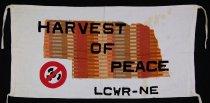 Image of 13352-108 - Banner; Nebraska Peace Ribbon, 1985, Harvest of Peace