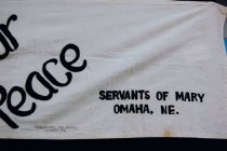 Image of 13352-114 - Banner; Nebraska Peace Ribbon, 1985, Servants of Peace