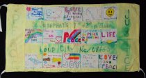 Image of 13352-116 - Banner; Nebraska Peace Ribbon, 1985, Peace and Justice Tiles