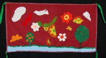 Image of 13352-58 - Banner; Panel, Peace Ribbon, 1985, Beatrice Landscape