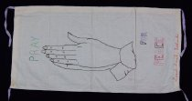 Image of 13352-90 - Banner; Nebraska Peace Ribbon, 1985, Grand Island Praying Hands