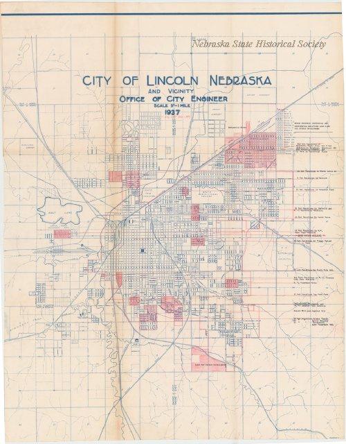 RG5408 Woods Family (Lincoln, Neb.) - Map, City of Lincoln, Nebraska ...