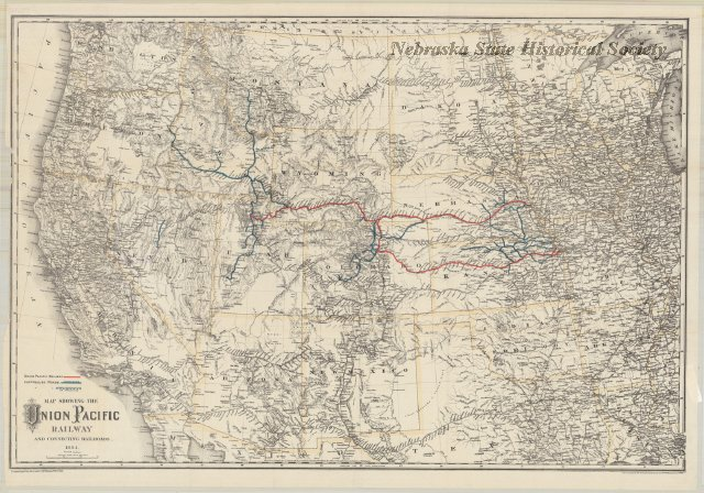 Uncataloged Maps - The map shows the western half of the United ...