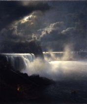Image of Museum of Fine Arts - View of Niagara Falls in Moonlight