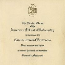 Image of 1978.212 - American School of Osteopathy Commencement Program