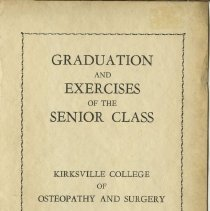 Image of 1978.216 - Kirksville College of Osteopathy and Surgery Commencement Program