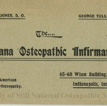 Image of 1978.239 - Indiana Osteopathic Infirmary