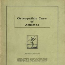 Image of 1978.247 - Osteopathic Care of Athletes