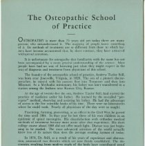 Image of 1979.267 - The Osteopathic School of Practice