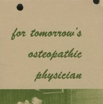 Image of 1979.269 - For tomorrow's osteopathic physician