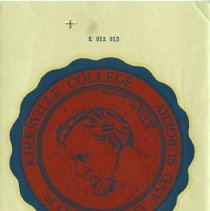 Image of 1980.417 - Kirksville College of Osteopathy and Surgery Decal