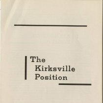 Image of 1980.436 - The Kirksville Position