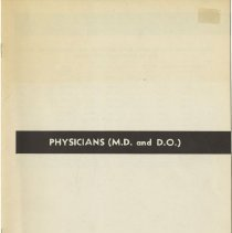 Image of 1980.436 - Physicians (Medical Doctor and Doctor of Osteopathy)