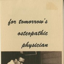 Image of 1980.436 - For tomorrow's osteopathic physician