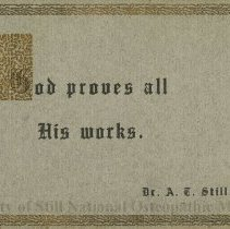 Image of Card with A.T. Stil quote