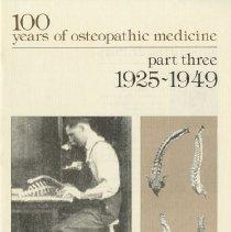 Image of 1981.579 - 100 Years of Osteopathic Medicine, Part III