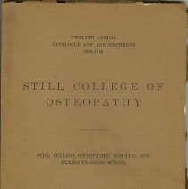 Image of 1981.621 - 1909 Still College of Osteopathy catalog