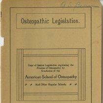 Image of 1982.713 - Osteopathic Legislation
