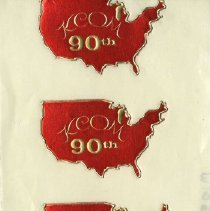 Image of 1982.749 - Kirksville College of Osteopathic Medicine 90th Anniversary stickers