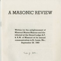 Image of 1983.884 - A Masonic Review