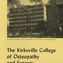 Image of 1985.1008 - The Kirksville College of Osteopathy and Surgery
