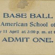 Image of ASO Baseball ticket