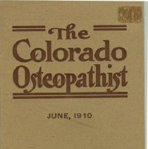 Image of 1985.1088 - The Colorado Osteopathist