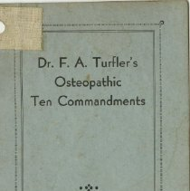 Image of 1989.1258 - Osteopathic Ten Commandments 1931 May