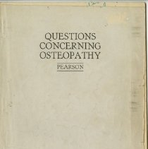 Image of 1989.1258 - Questions Concerning Osteopathy