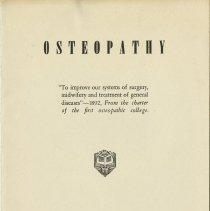 Image of 1990.1258 - Osteopathy