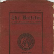 Image of 1991.1273 - The Bulletin of the Atlas and Axis Clubs