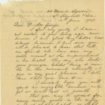 Image of 1991.1299 - Letter to Florence MacGeorge 1927 Jun 12
