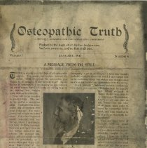 Image of 1991.1334 - Osteopathic Truth Journal 1917 Jan