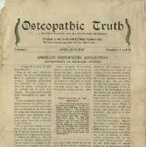 Image of 1991.1334 - Osteopathic Truth 1917