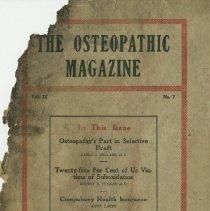 Image of 1991.1334 - The Osteopathic Magazine 1917