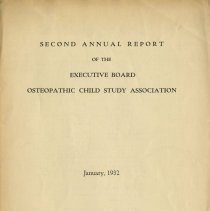 Image of 1992.1569 - Annual Report of the Osteopathic Child Study Association