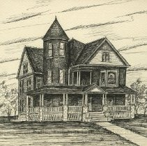 Image of 1995.264 - Drawing of home of Andrew Taylor Still