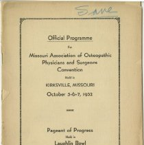 Image of MAOPS Convention program