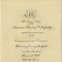 Image of 1900 ASO Graduation invitation